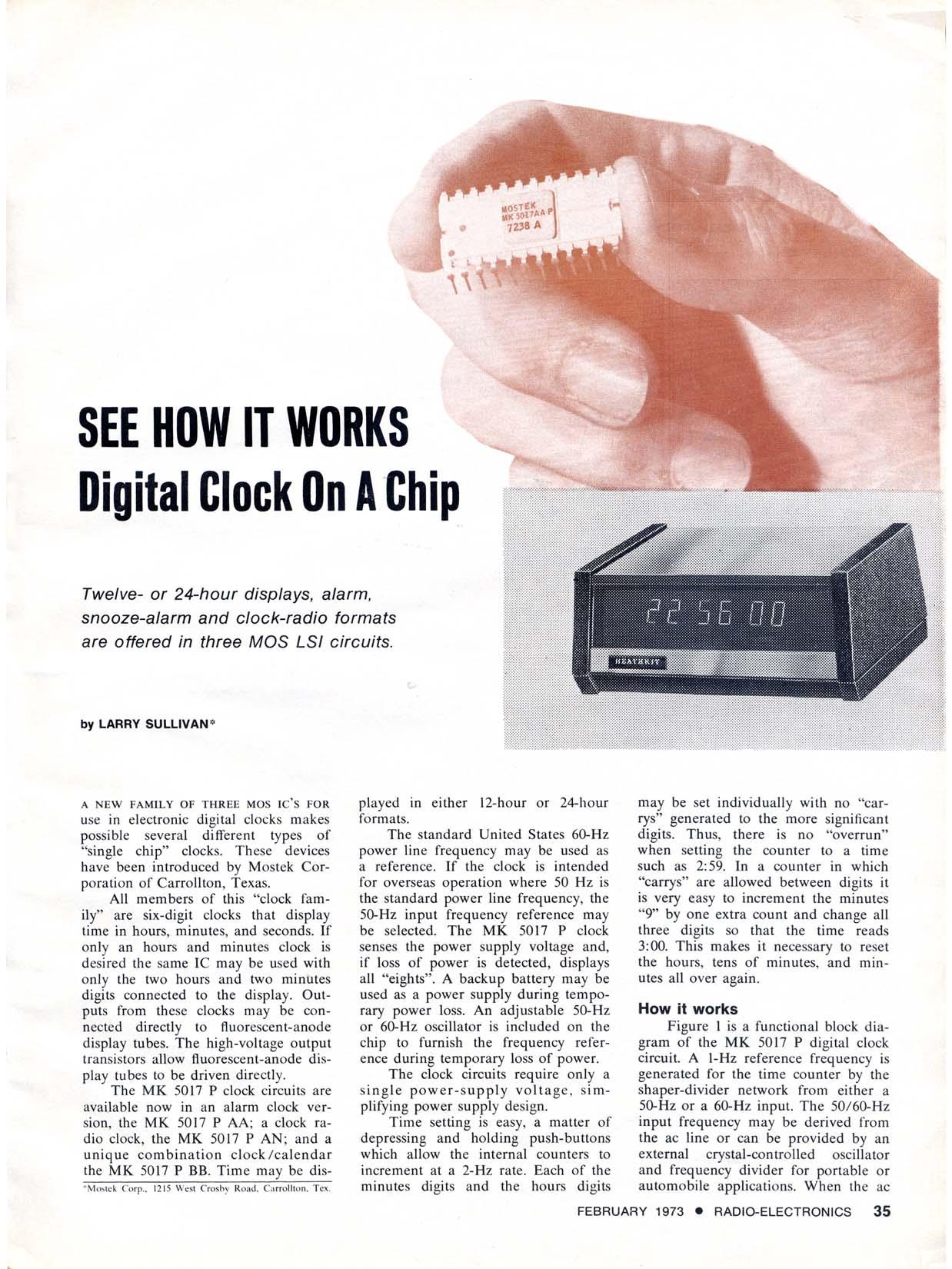 Heathkit Clocks 24hour Digital Clock And Timer Circuit