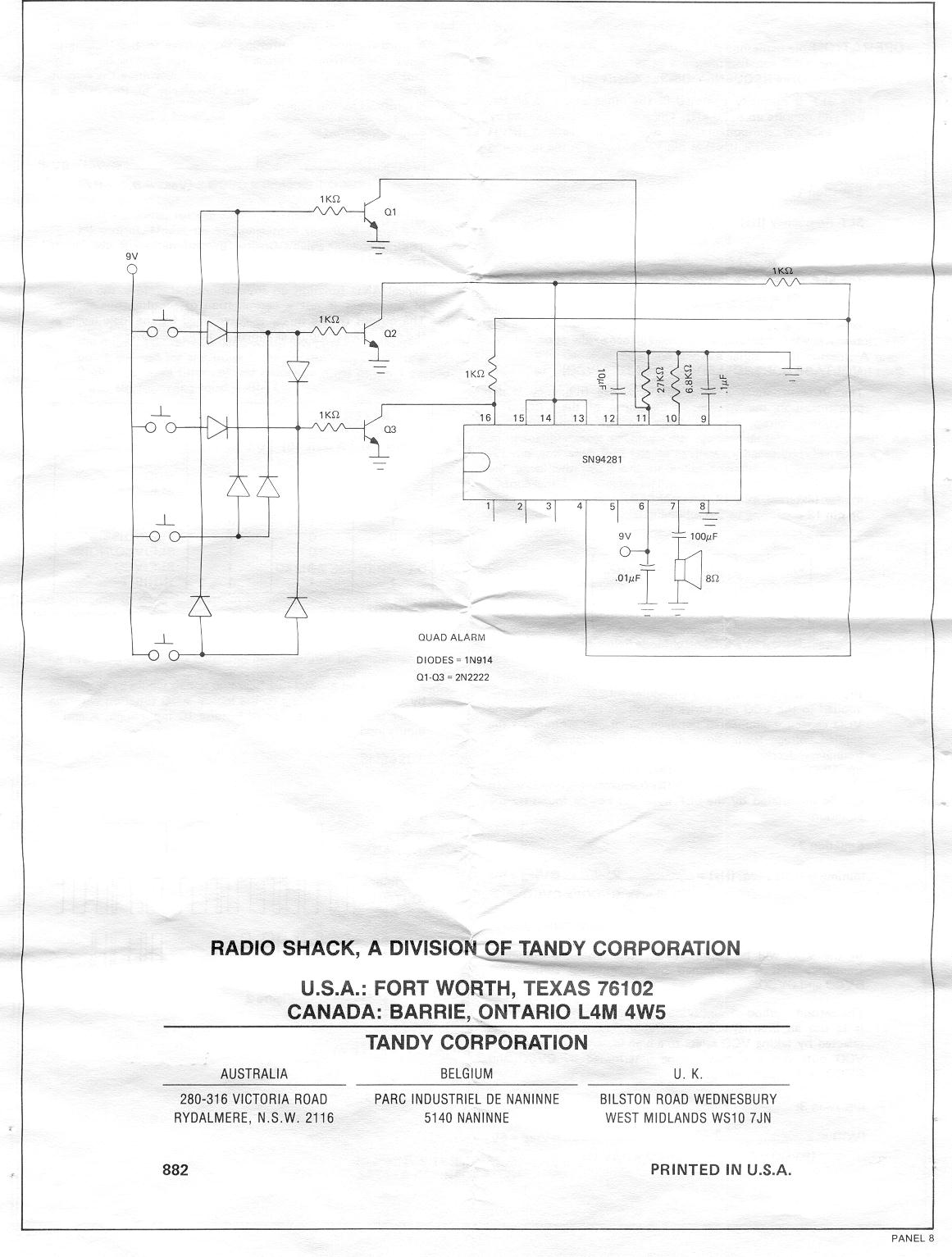 Old Semiconductors Sound Generator Circuit Audio Effects Wind Panel 7